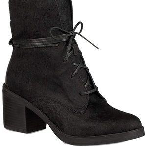 UGG Oriana Genuine Calf Hair Block Heel Boot